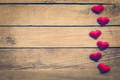 Fond et coeurs de jour de valentines avec l'espace Image stock