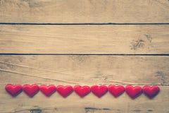 Fond et coeurs de jour de valentines avec l'espace Images stock