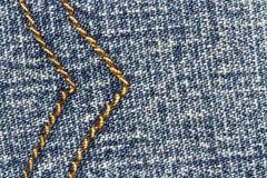 Fond et couture de texture de blues-jean pour le secteur des textes images libres de droits