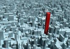 Fond et individualité urbains abstraits illustration libre de droits