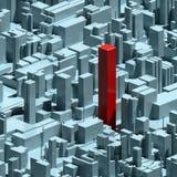 Fond et individualité urbains abstraits illustration stock