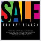 Fond et label d'achats de vente pour la promotion d'affaires Photos stock