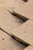 Fond et papier peint criqués de plancher de ciment Images stock