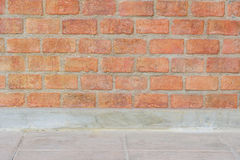 fond et plancher de mur de briques Images libres de droits