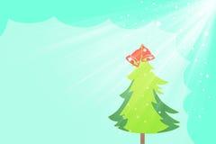 Fond et saison #4 de salutation de Noël Images libres de droits