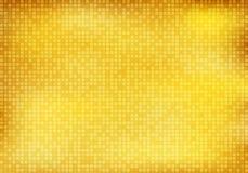 Fond et texture carrés d'or brillants de modèle de mosaïque de résumé illustration de vecteur