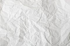 Fond et texture de papier chiffonnés par blanc Wrinkled a plissé le résumé blanc de papier photographie stock