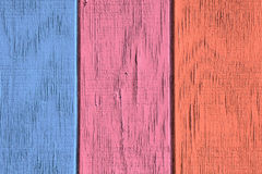 Fond et texture en bois de vintage avec la peinture d'épluchage Image libre de droits