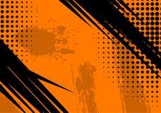 Fond et texture grunges oranges Photos stock