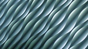 Fond et texture, turquoise, bleu, vert Modèle abstrait de vague ou de spirale avec la lumière et l'effet d'ombre Images libres de droits