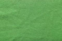 Fond et texture verts de toile de jute Photographie stock libre de droits