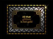 Fond ethnique de cadre d'or photographie stock libre de droits