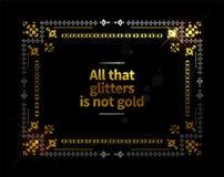Fond ethnique de cadre d'or images stock