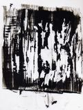 Fond expressif d'art moderne de crainte agressive illustration libre de droits