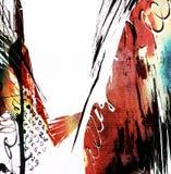 Fond expressif sale artistique Illustration Stock