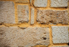 Fond extérieur de mur en pierre Photos stock