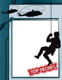 Fond extrêmement secret d'espion Images libres de droits