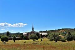 Fond för ritt för sammankomst för frihet för stolpe 86 för amerikansk legion - raiser i nordliga Arizona, Förenta staterna arkivfoto