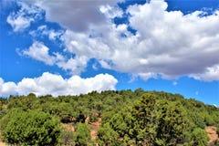 Fond för ritt för sammankomst för frihet för stolpe 86 för amerikansk legion - raiser i nordliga Arizona, Förenta staterna fotografering för bildbyråer