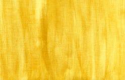Fond fabriqué à la main d'or sur la toile. Images libres de droits