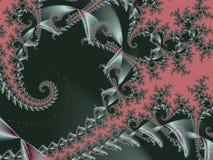 Fond fabuleux Modèle de satin avec des spirales Illustration pour le cre image libre de droits