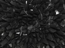 Fond facetté noir abstrait illustration de vecteur