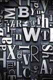 Fond fait au hasard d'impression typographique Image stock
