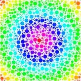 Fond fait d'un gradient concentrique et des formes rondes Image stock