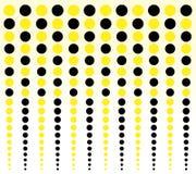Fond fait de cercles jaunes et noirs Photo libre de droits