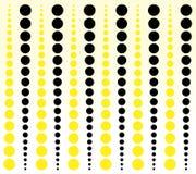 Fond fait de cercles jaunes et noirs Photo stock
