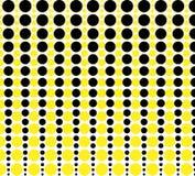 Fond fait de cercles jaunes et noirs Images libres de droits