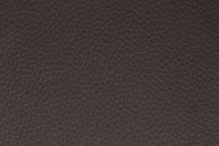 Fond fait de cuir de brun foncé Image libre de droits