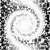 Fond fait de gradient noir et blanc en spirale et places illustration libre de droits