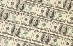 Fond fait en cent banques du dollar Photos libres de droits