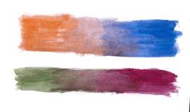 Fond fait main d'abrégé sur multicolore aquarelle Images stock