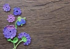 Fond fait main de crochet original coloré Images stock