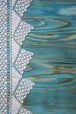 Fond fait main de dentelle originale blanche de crochet Image stock