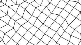 Fond fait une boucle Animated de maille polygonale 3d rendent illustration stock
