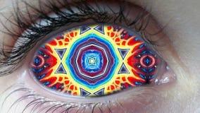Fond fait une boucle coloré d'abrégé sur psychédélique oeil illustration stock
