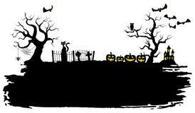 Fond fantasmagorique de veille de la toussaint illustration de vecteur