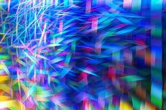 Fond fantastique de fractale D'or de r?sum?, bleu lumineux, rose et formes chaotiques pourpres Fond color? illustration stock