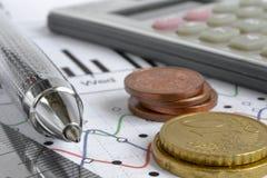 Fond financier images stock