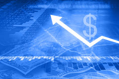 Fond financier Photos stock