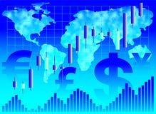 Fond financier. Image stock