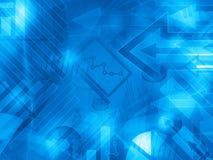 Fond financier abstrait d'entreprise de données bleues Images stock