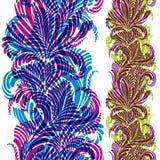 Fond fleuri avec le modèle sans couture vertical coloré Photographie stock