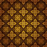Fond fleuri décoratif de configuration de tuile d'or Image libre de droits