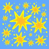 Fond fleuri d'étoiles Photos stock