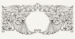 Fond fleuri de cadre de vintage Image libre de droits