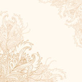 Fond fleuri de cru de vecteur illustration de vecteur